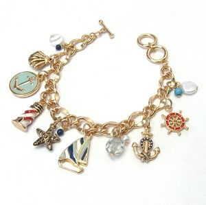 Anchor Boat Charm Bracelet